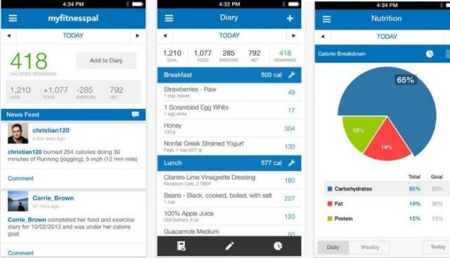 my fitness pal fitness app